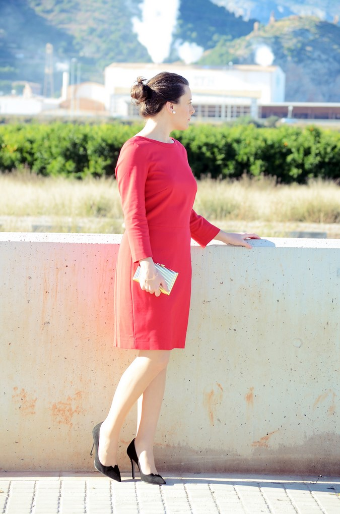 Lady in red & Magrid Bloggers Made In Spain 2016 _ Look_ Zapatos Magrit_mivestidoazul (2)