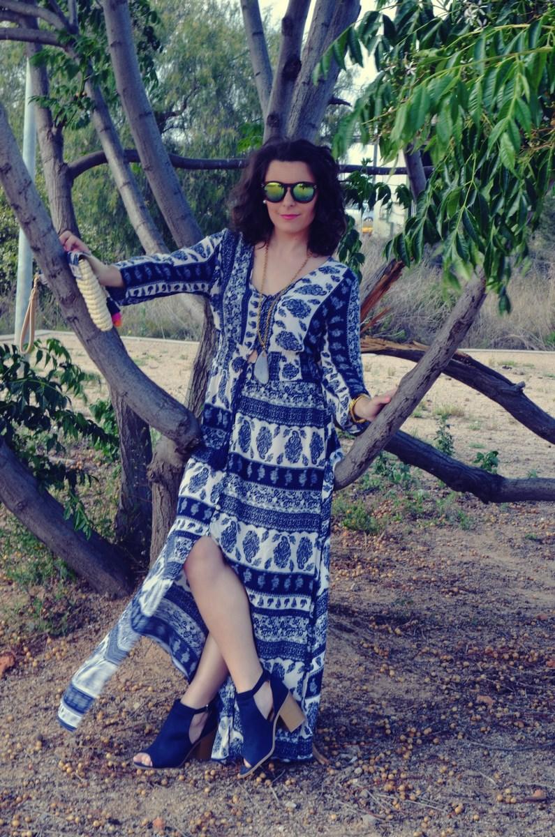 maxi vestido tribal outfit mi vestido azul fashion blogger (10)
