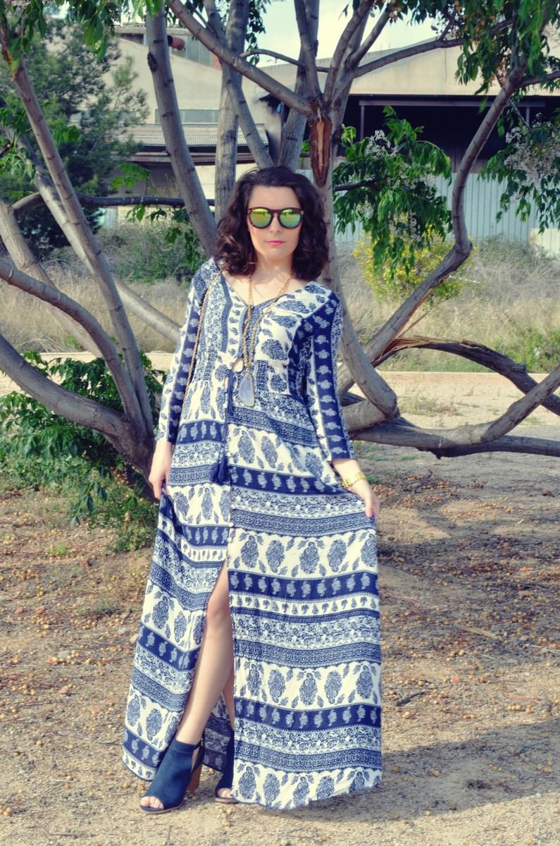maxi vestido tribal outfit mi vestido azul fashion blogger (3)