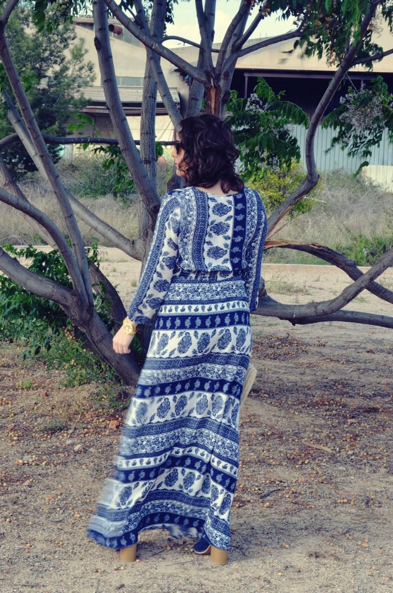 maxi vestido tribal outfit mi vestido azul fashion blogger (6)