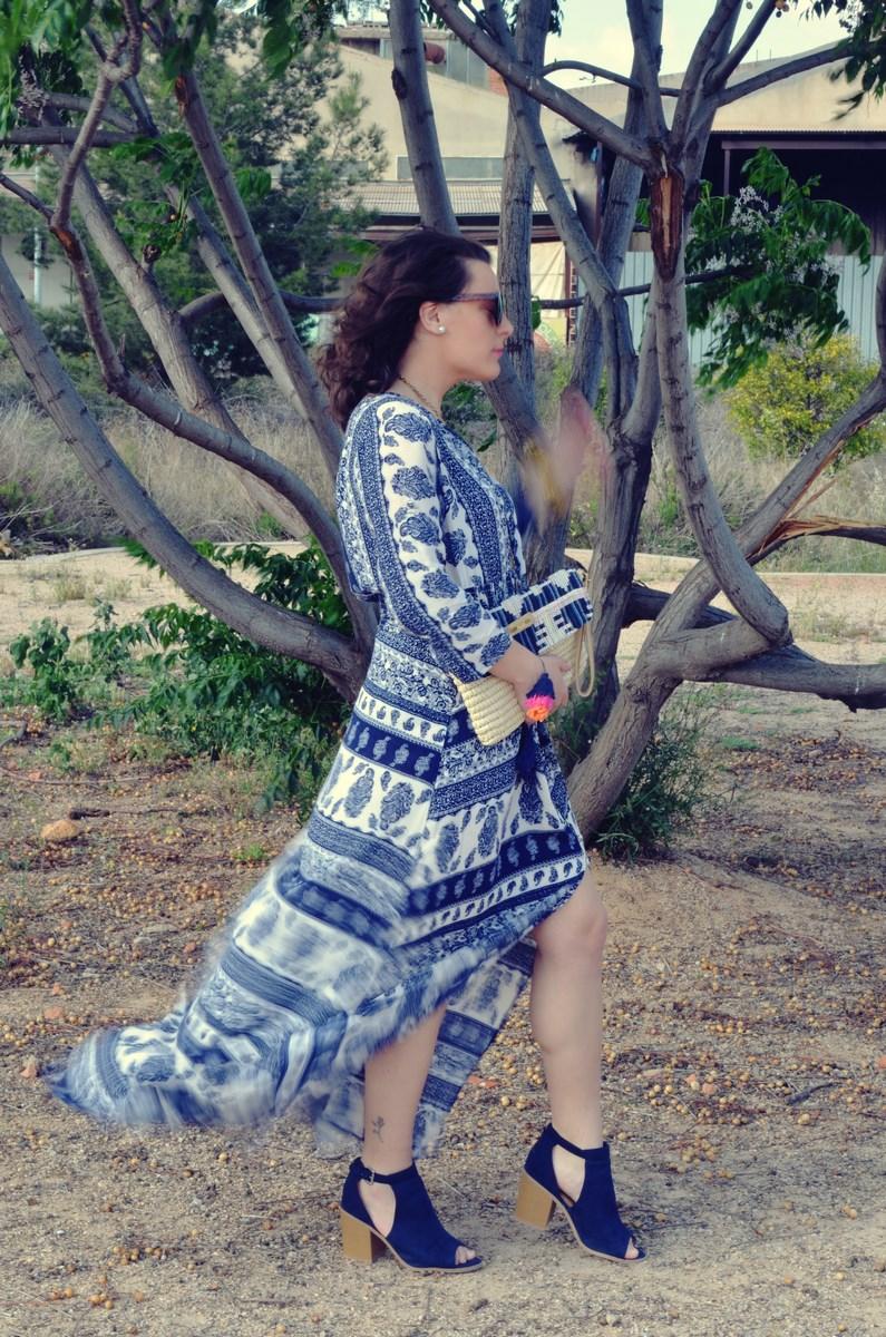 maxi vestido tribal outfit mi vestido azul fashion blogger (8)
