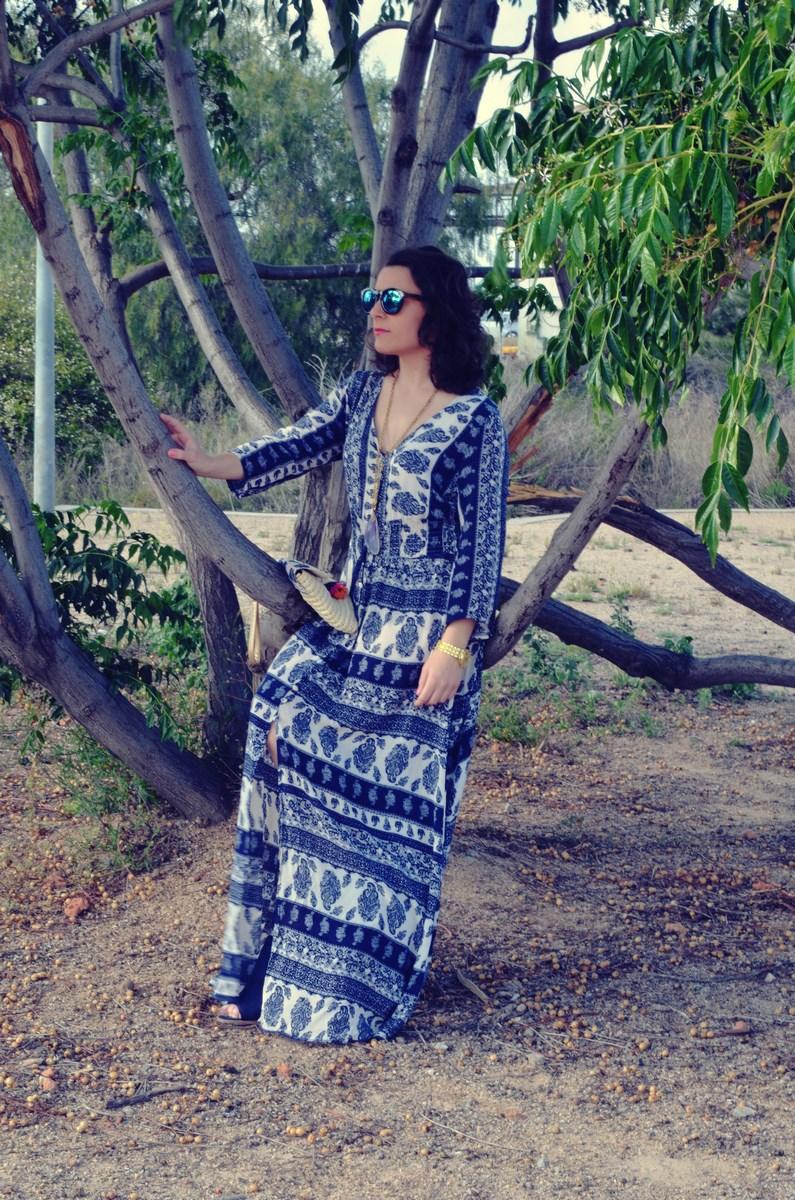 maxi vestido tribal outfit mi vestido azul fashion blogger (9)