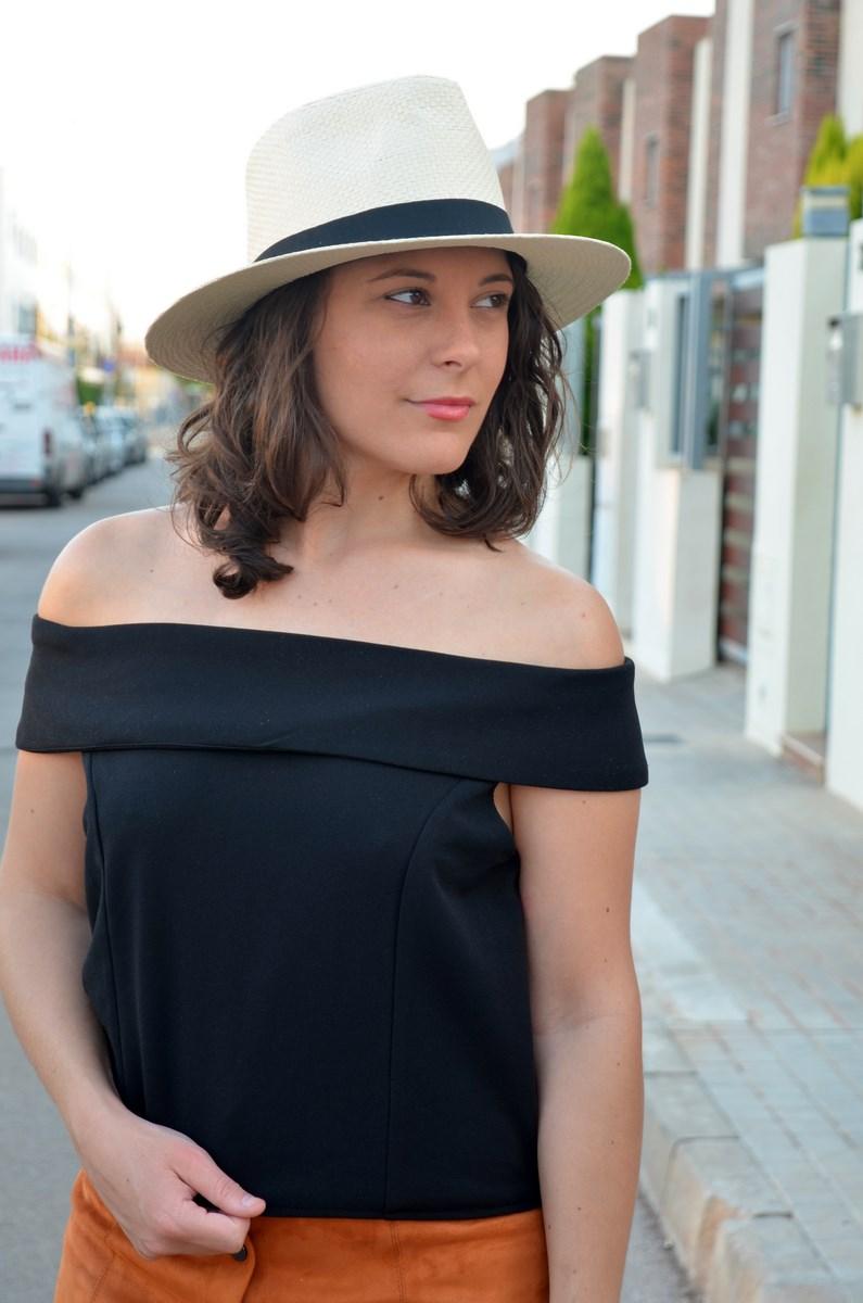 Falda abotonada y top escote bardot_look_mivestidoazul (12)