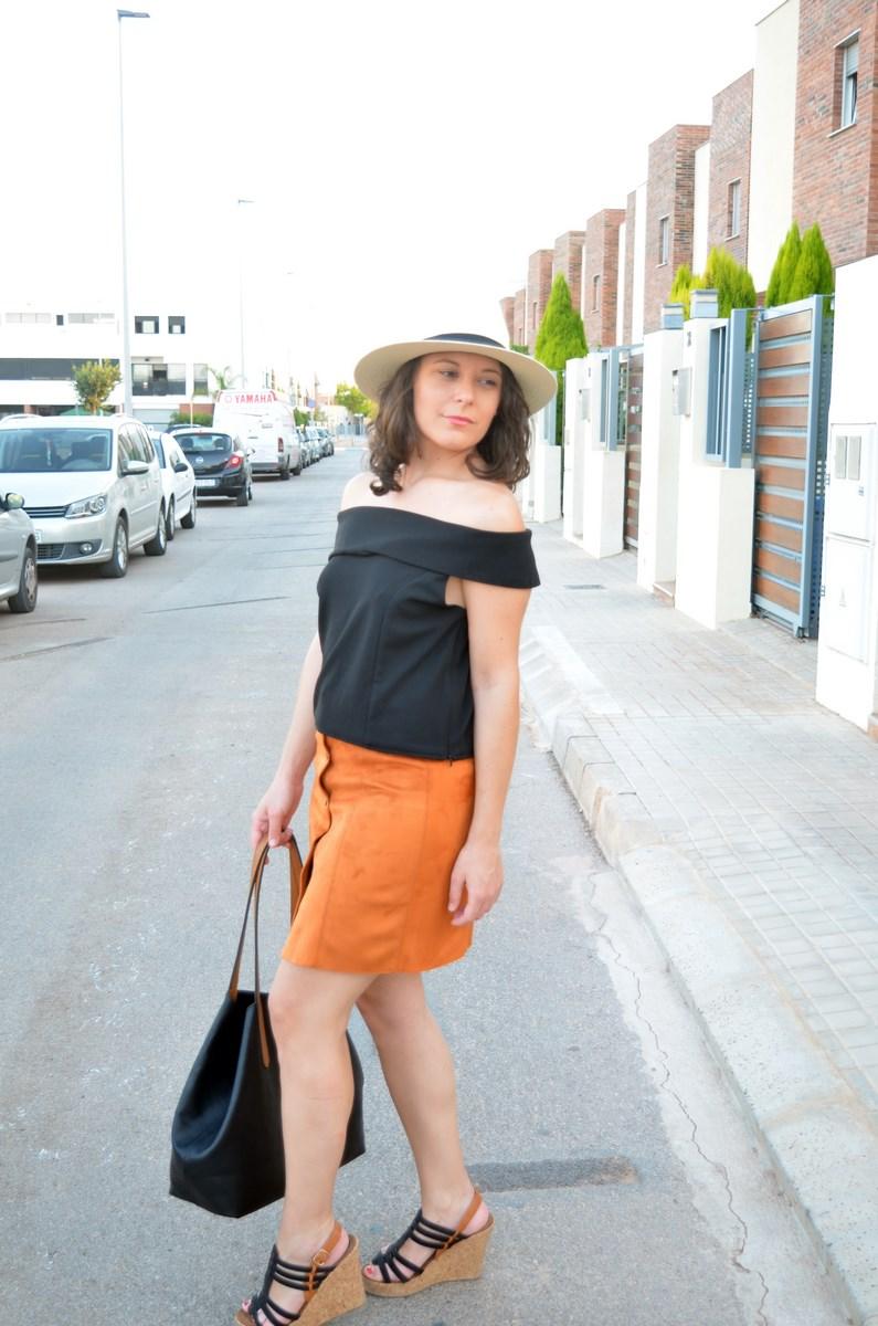 Falda abotonada y top escote bardot_look_mivestidoazul (14)
