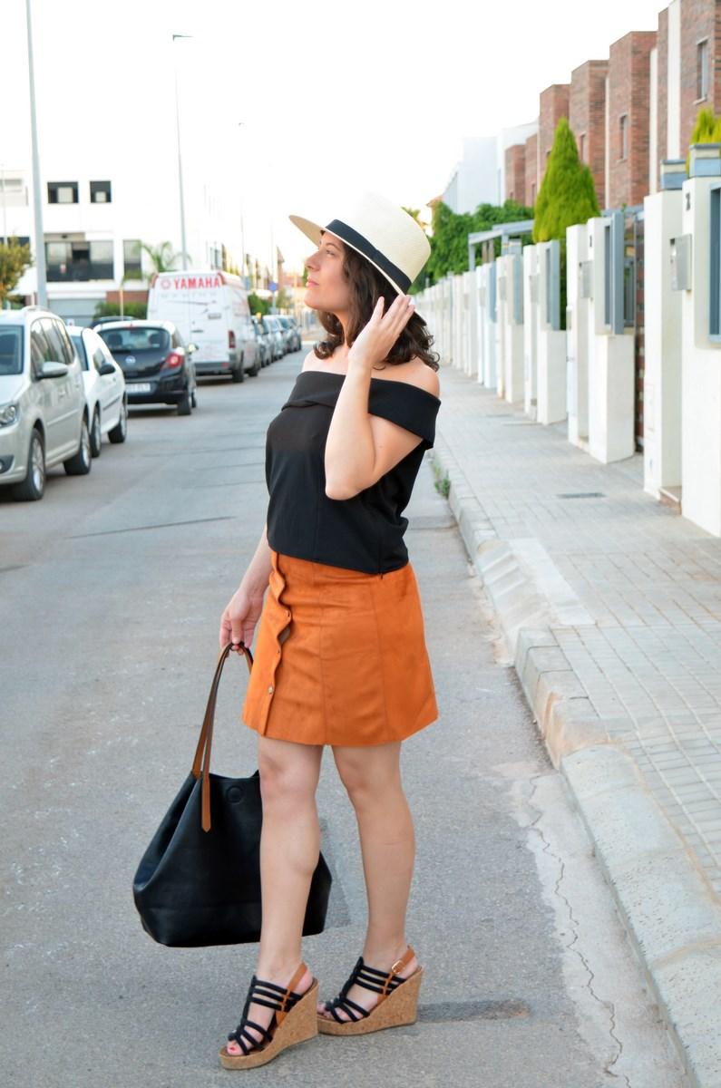 Falda abotonada y top escote bardot_look_mivestidoazul (9)