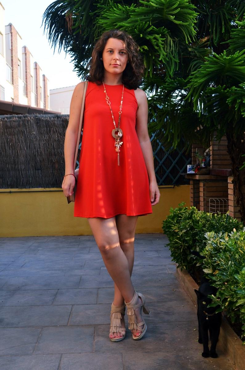 Vestido rojo anaranjado_look_streetstyle_mivestidoazul (1)