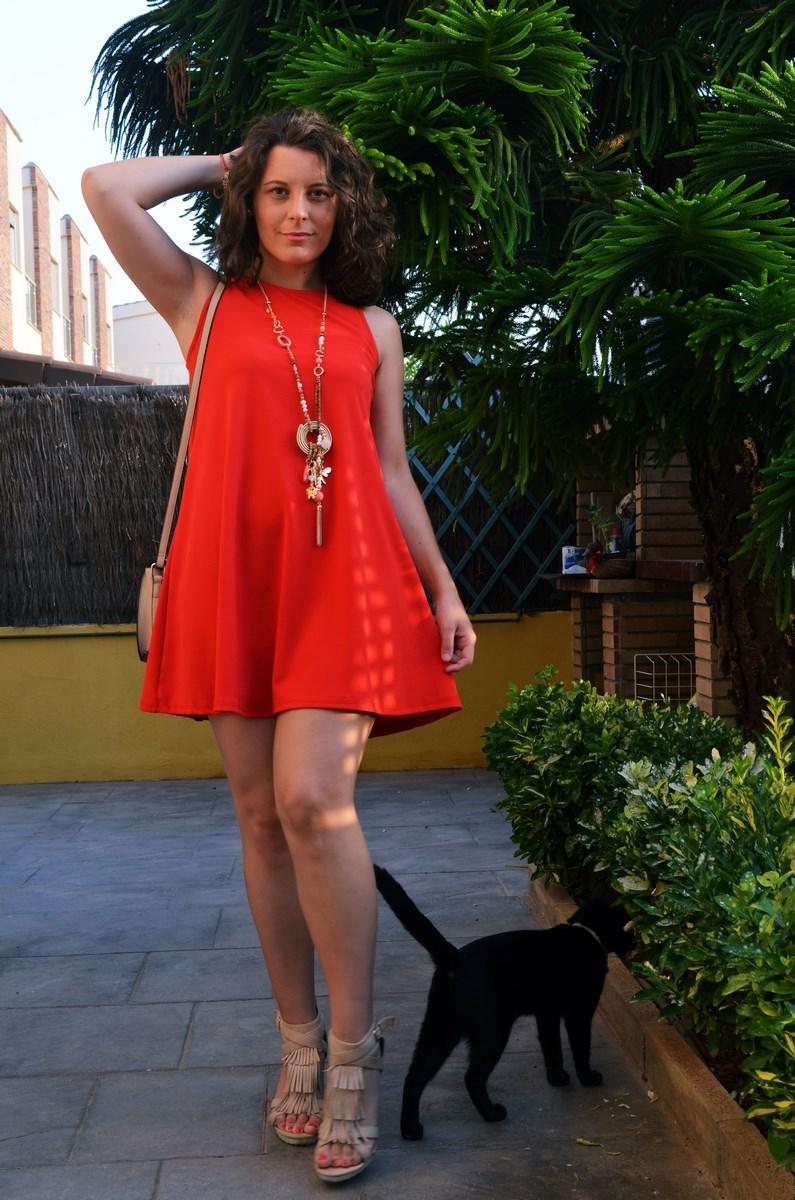 Vestido rojo anaranjado_look_streetstyle_mivestidoazul (10)