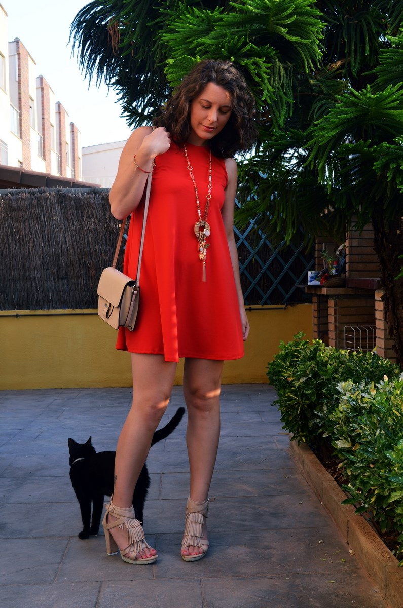 Vestido rojo anaranjado_look_streetstyle_mivestidoazul (2)
