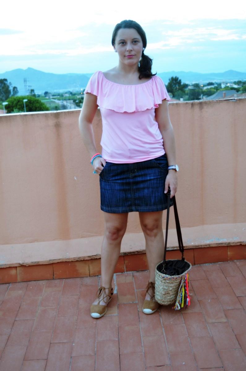 Camiseta rosa y mini capazo_look_verano_fashionblogger_mivestidoazul (4)