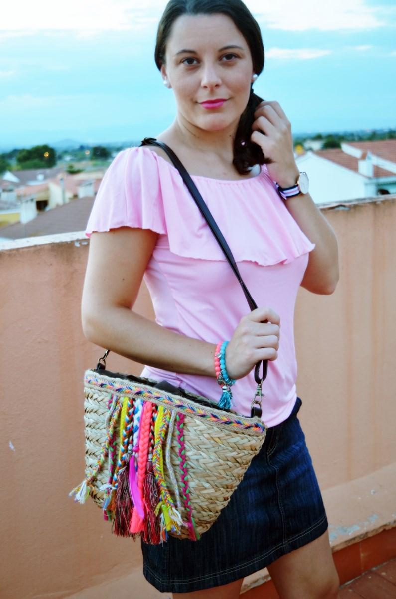 Camiseta rosa y mini capazo_look_verano_fashionblogger_mivestidoazul (8)