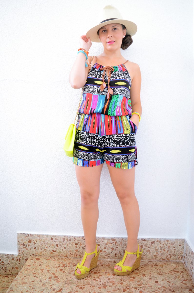 Mono corto de colores Look Mivestidoazul.com Streetstyle Summer 2016 Friendsfluencers (2)