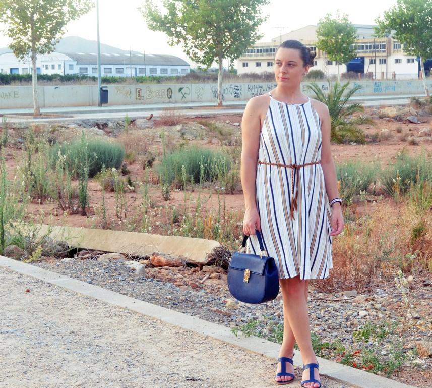 Look_vestido de rayas azul y camel_streetstyle_mivestidoazul (2)