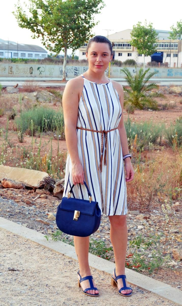 Look_vestido de rayas azul y camel_streetstyle_mivestidoazul (6)