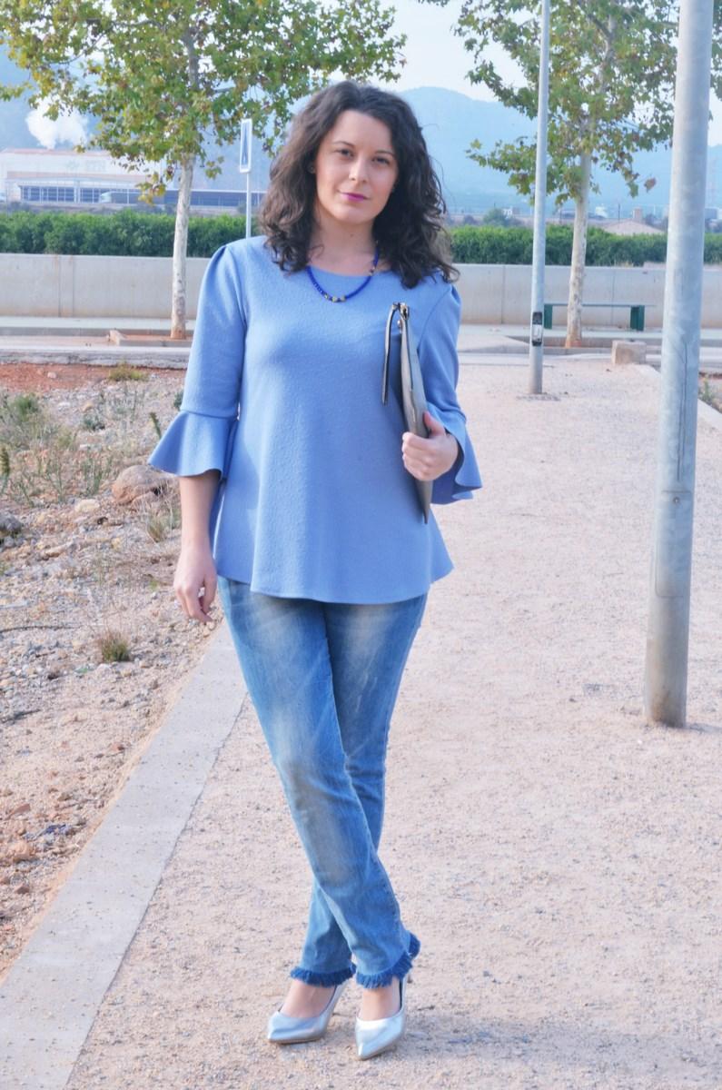 look_blusamangasacampanadasymetalizados_streetstyle_fashionbloggermivestidoazul-2
