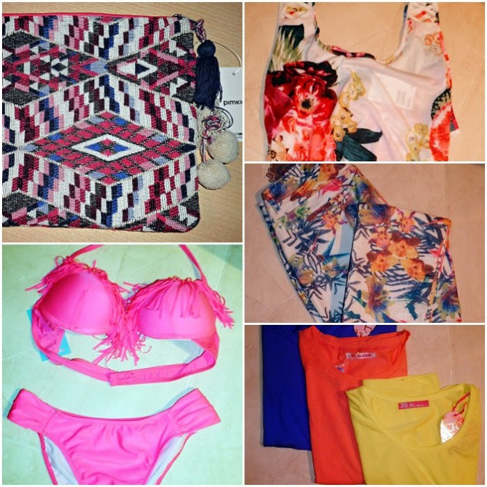 compras, shopping, pimkie, flores, H&M, estampado, flowers, castellón, calzedonia, bikini, flecos, camisetas, salera