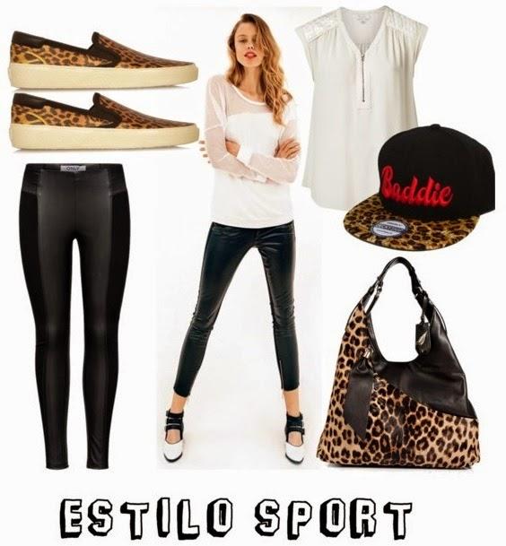 estilo sport, deportivas, básico, animal print, gorra