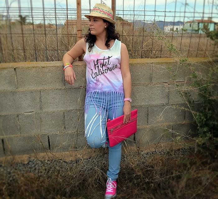 look, primark, flecos, boho, chic, casual, jeans, rosa, pink,Castellón, fashionblogger