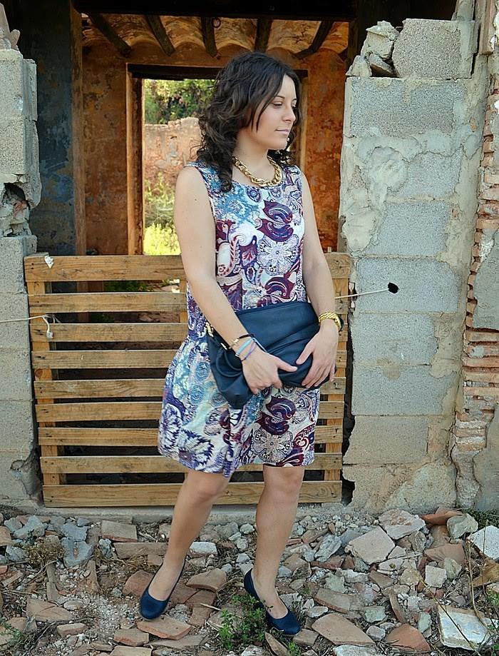 vestido ligero, mango, estampado, moda, blog de moda, mi vestido azul, blogger castellóm, fashion blogger, estilo, look