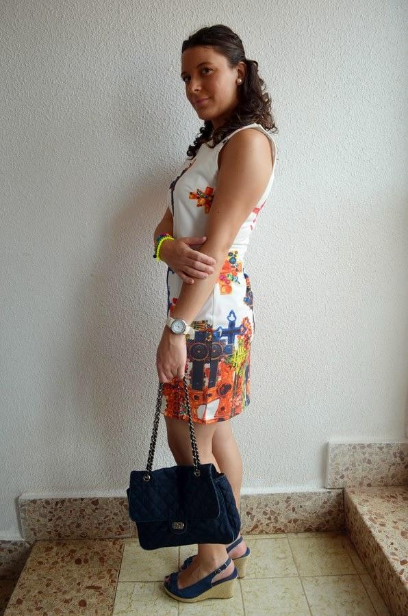 vestido de cruces, mi vestido azul, blogger, blog de moda, castellon, fashion blogger, look, outfit, trendy, cross dress, denim