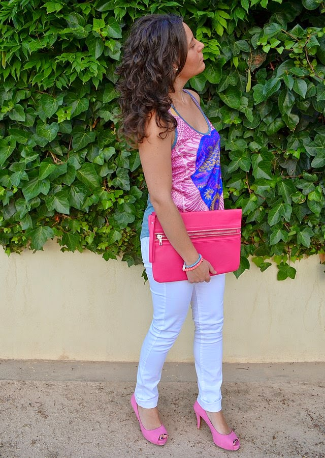 rosa, like, love, pink, custo barcelona, mi vestido azul, blog de moda, fashion blogger, castellón, look, outfit