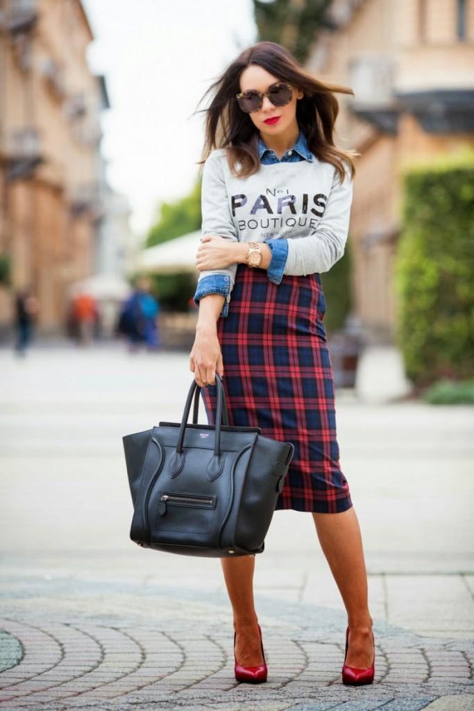 tartán, mi vestido azul, blog de moda, street style , castellón