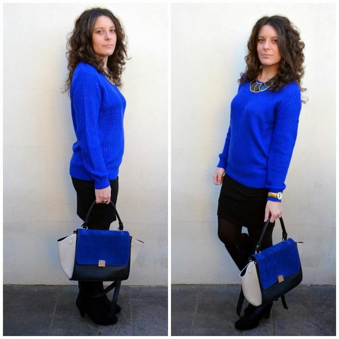 blue, azul, mi vestido azul, fashion blogger, castellón, celine bag, looks, style , moda