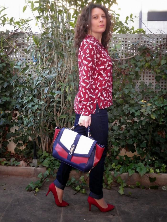 libelulas, burdeos, mi vestido azul, fashion blogger, moda, castellón, look, spain