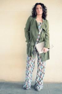 Flowers jumpsuit & Khaki trench (4)