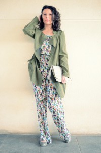 Flowers jumpsuit & Khaki trench (5)