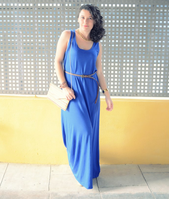 Mi Vestido Azul - Maxi blue dress (2)