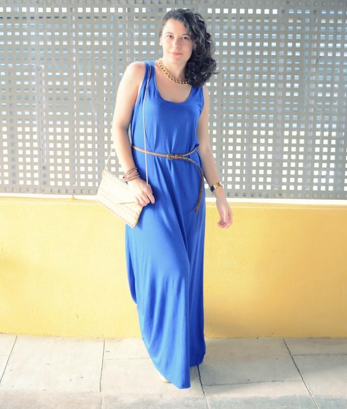 Mi Vestido Azul - Maxi blue dress (2)