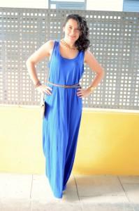 Mi Vestido Azul - Maxi blue dress (4)