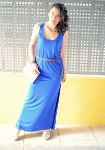 Mi Vestido Azul - Maxi blue dress (5)