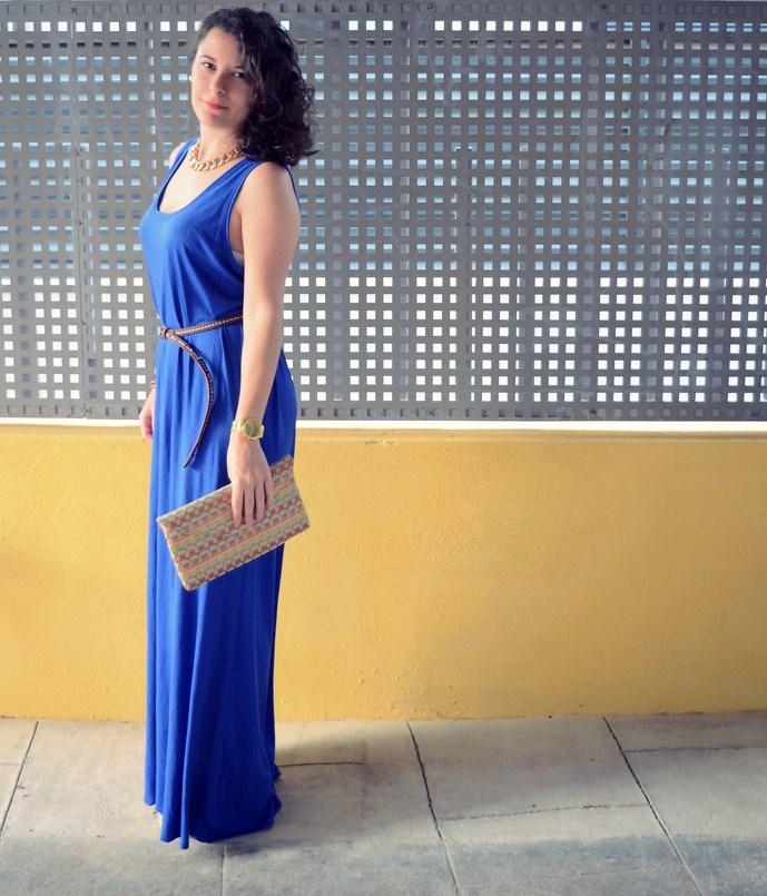 Mi Vestido Azul - Maxi blue dress (7)