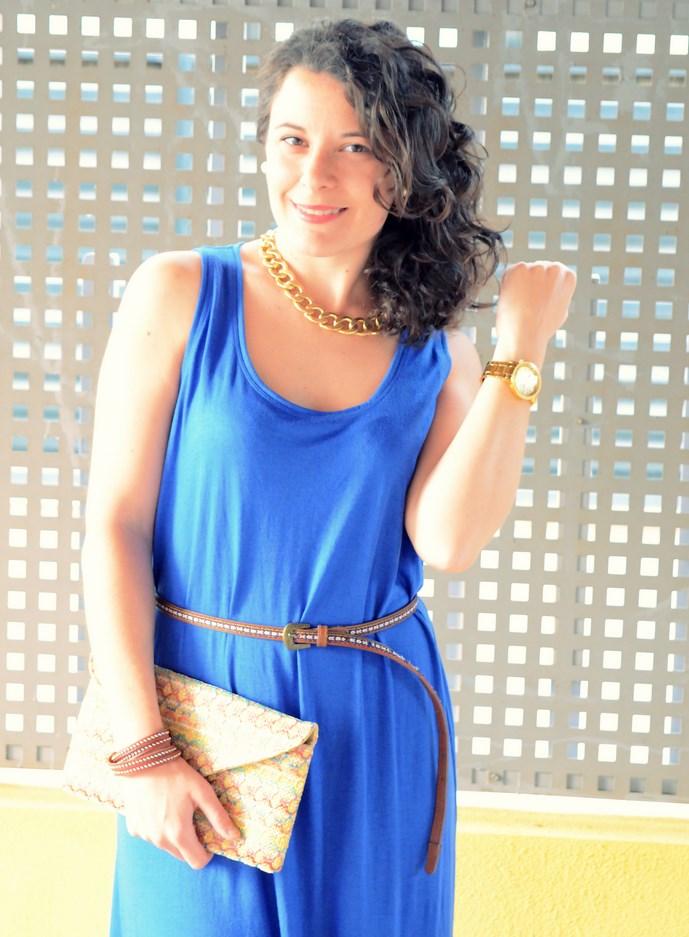 0439a37e El look de hoy me encanta por dos razones: una porque ya sabéis que adoro  el color azul y otra porque he conseguido crear un outfit que me estiliza y  me ...