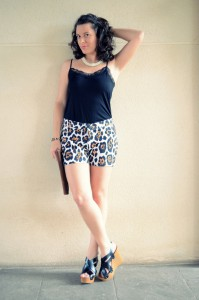 Mi vestido azul- Animal print shorts (5)