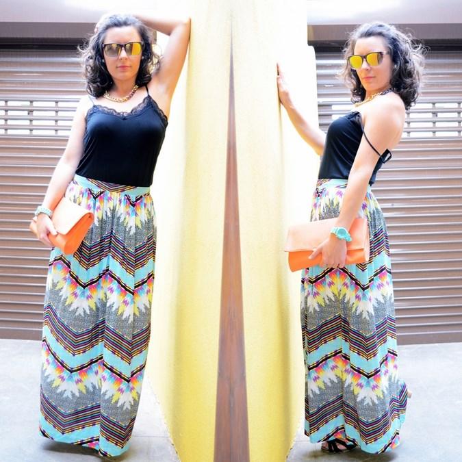 Mi vestido azul - Geometric long skirt (10)