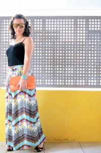 Mi vestido azul - Geometric long skirt (4)