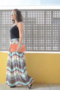 Mi vestido azul - Geometric long skirt (5)