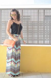Mi vestido azul - Geometric long skirt (6)