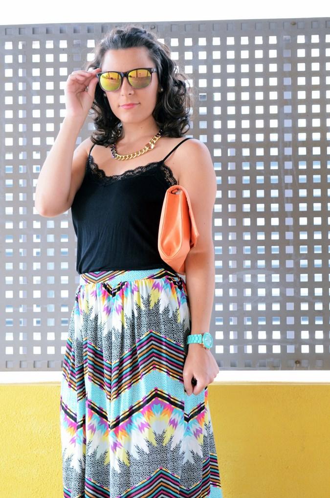 Mi vestido azul - Geometric long skirt (8)