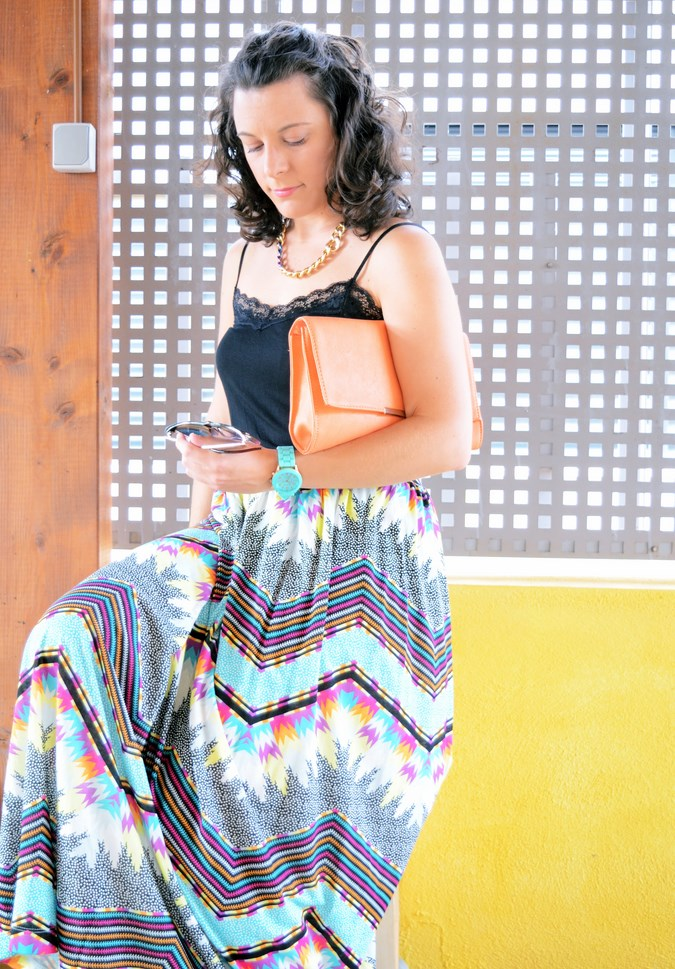 Mi vestido azul - Geometric long skirt (9)