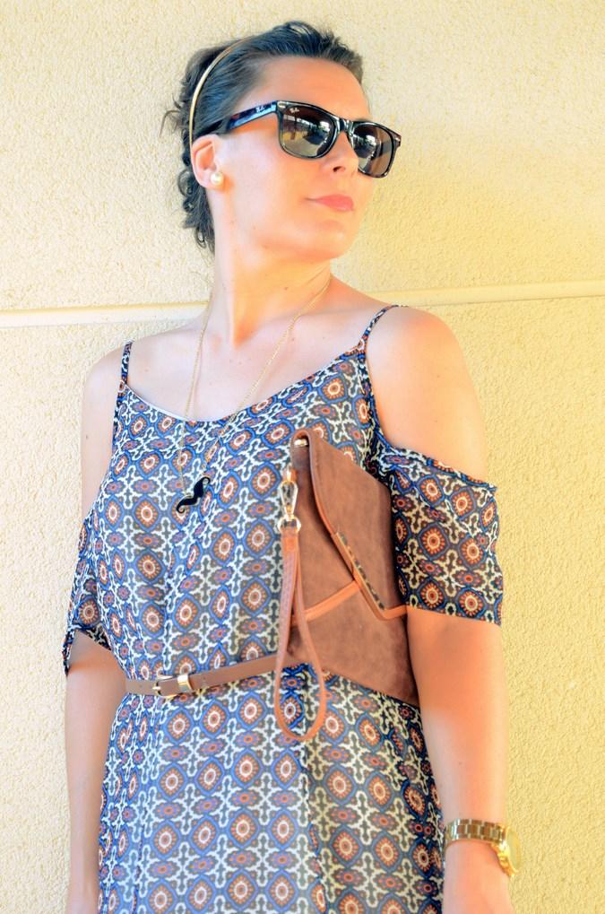 Mi vestido azul - Shoulder off dress (3)