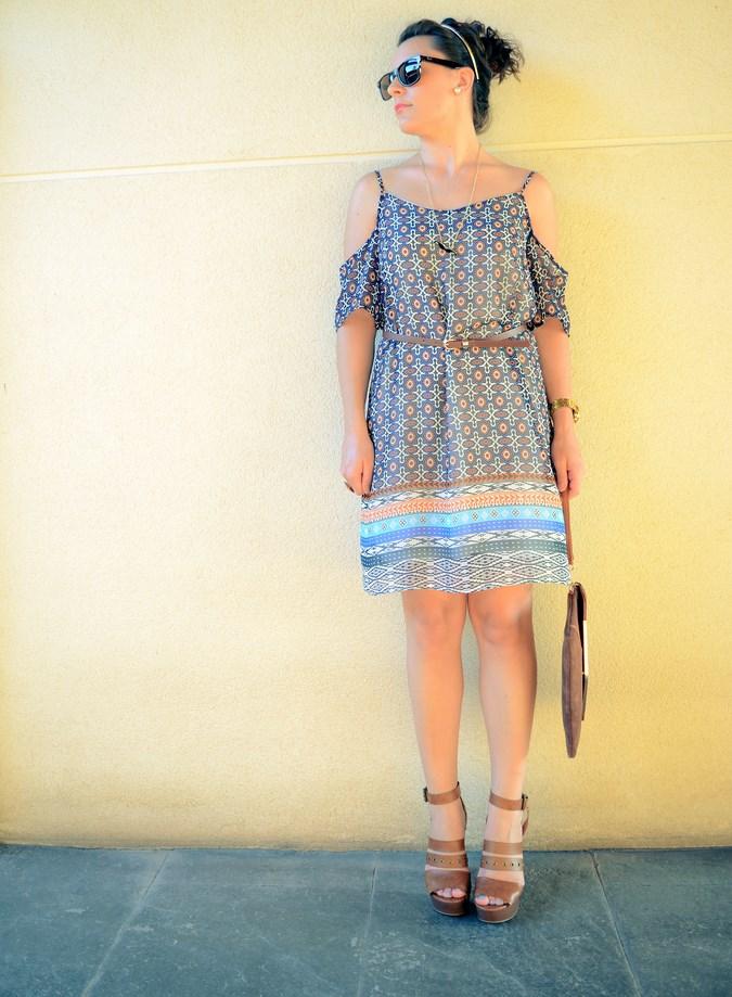 Mi vestido azul - Shoulder off dress (8)