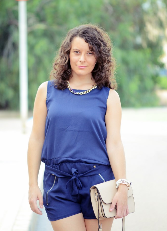 Mi vestido azul - Blue jumpsuit & Nude (11)