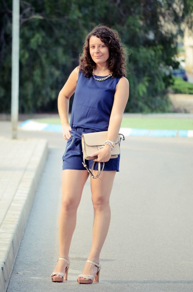 Mi vestido azul - Blue jumpsuit & Nude (7)
