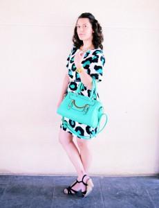 Mi vestido azul - Green animal print (6)
