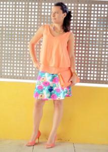 Mi vestido azul - Orange & flowers (2)