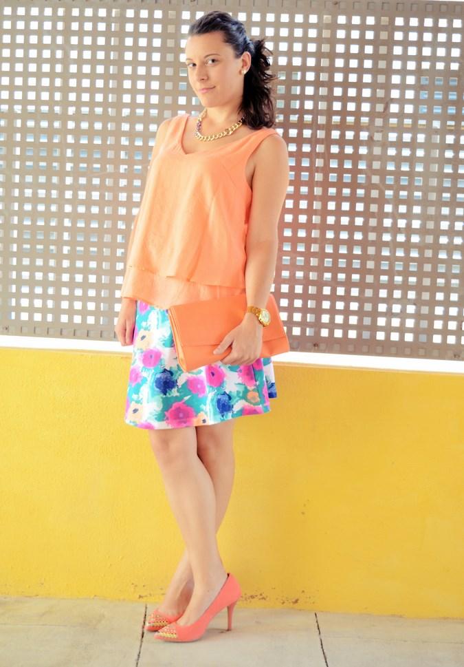 Mi vestido azul - Orange & flowers (3)