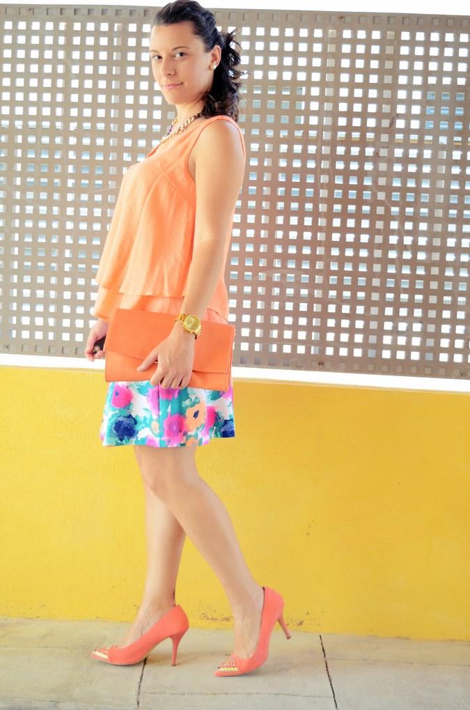 Mi vestido azul - Orange & flowers (5)